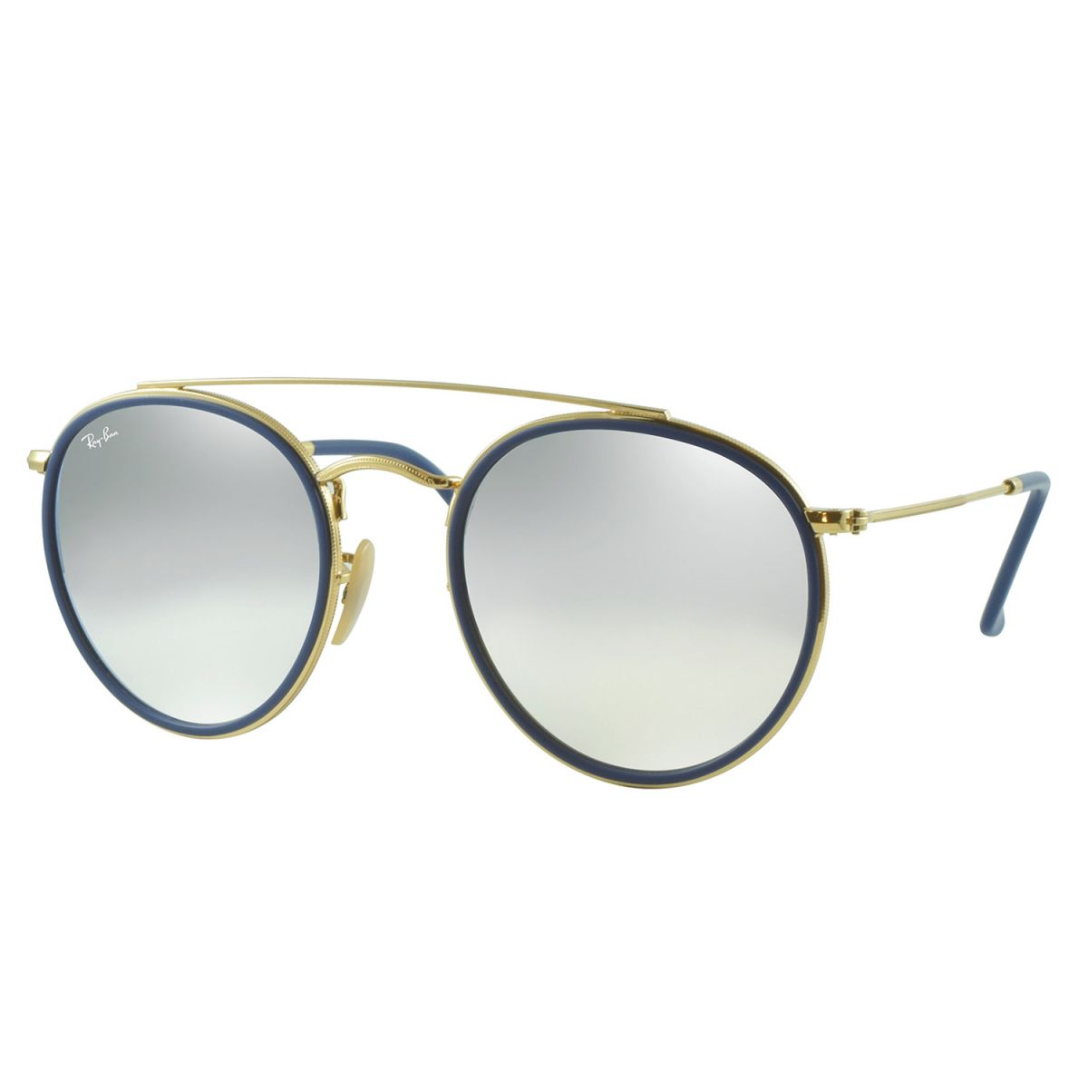 4707f2845 Óculos de Sol Ray-Ban Rb3647n 001/9U 51 Round Double Bridge