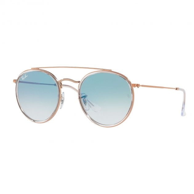 Óculos de Sol Ray-Ban Rb3647n 9068/3F 51 Round Double Bridge